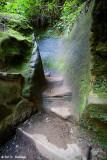 Steps through the rock