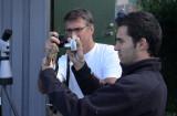 Stefan Hage och Javier fotar Ortolansparv Getterön aug-05.