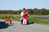 Tommy holmgren med dottern Saga Falsterbo Skåne 6.10-07