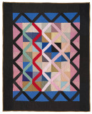 095: Lattice crib quilt, Haven, KS c. 1930 43x53