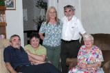 John, Eva, Beth, Leon and Mom, on Mom's 89th birhtday