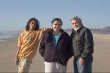 Sam, Eva & Leon, at the Oregon Coast, near Yachats