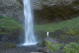 Bridal Veil Falls with Sam enjoying the wind