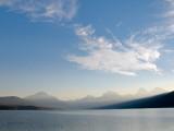 zP1010682 Wildfire smoke hazes morning mountains at Lake Macdonald in Glacier National Park.jpg