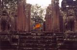 Buddha in the ruins.