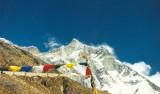 peaks and prayer flags.