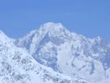 Le Mont Blanc zoomed from La Grande Motte