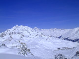 Le Mont Blanc and Tignes seen from La Grande Motte