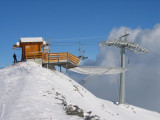 The highest point reachable by ski: 2896 m