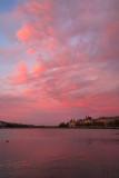 Fiery sunset Lake Peblinge 2