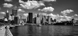Sydney skyline in bw