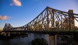 Brisbane Story Bridge at sunset