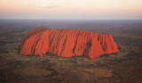 Uluru from above at sunset