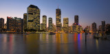 Brisbane Eagle Street Pier at dusk cityscape