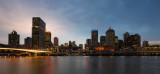 Brisbane sunset seen from South Bank