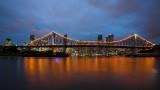 Brisbane and Story bridge cloud- and cityscape
