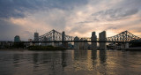 Brisbane & Story Bridge sunset cloudscape