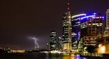 Brisbane Eagle Street Pier - bolt of lightning!