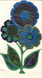 70's flower napkin