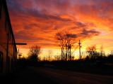 sun setting in north tonawanda