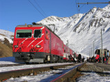 Power engine in the Swiss Alps