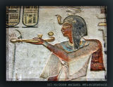 Pharao Rameses III offering to the gods
