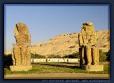 Colossi of Memnon in morning light