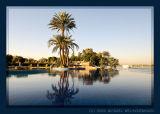 Infinity-Pool of the Jolie Ville Resort on Crocodile Island, Luxor