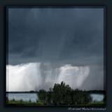 Storm over the Crau landscape