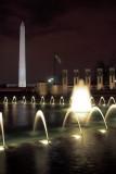 WW II and Washington Monuments
