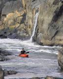Ryan - Dwarfed by the cliffs