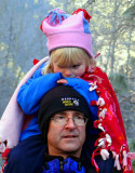 Riding on Dad's Shoulders