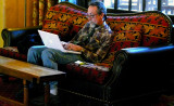 Checking email at the Ahwahnee