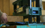 Pallet material into the Planer
