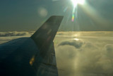 Early a.m. rise above the clouds