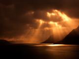 Sunbeams At Dyrafjordur
