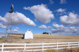 Blue Sky and White Puffy Clouds in The Palouse