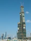 Progress at Burj Dubai 15th December 06.JPG