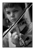 061126 Matthieu au violon