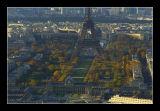 L'ecole militaire, le champs de mars, la tour eiffel et le trocadero.