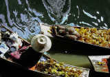 Bright Colors and Reflections: Floating Market, Thailand