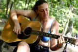Marianne serenades us after lunch