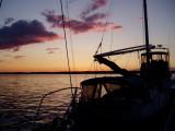 a beautiful sunset over Canada