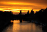Sunset beyond the Ouse, York