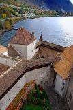 Tower and ramparts, Chateau de Chillon