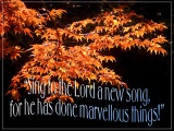 'Sing to the Lord…' slide from the Stourhead (autumn) series