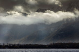 Low cloud on the mountains, near Montreux