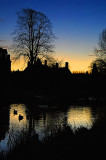 Silhouetted pond, Lower Slaughter