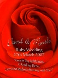 David & Myrtle's Ruby Wedding