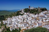 Town and turbines, Casares, Andalucia (2408)